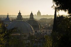 Roman domes Royalty Free Stock Photos
