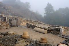 Roman domus - Spain. Domus  Archaeological site  Chao Samartin  Asturias SPAIN Stock Photo