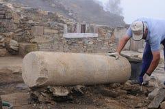 Roman Domus - Spain. Domus    Archaeological site  Chao Samartin  Asturias. SPAIN Stock Photography