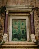 Roman door at forum Romanum Royalty Free Stock Photos