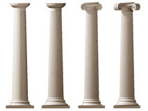 Roman Doric and Ionic columns Stock Photos