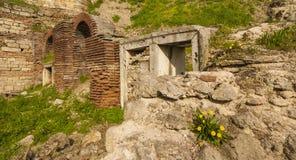 Roman Edifice del av den gamla staden av Constanta, Rumänien royaltyfria bilder