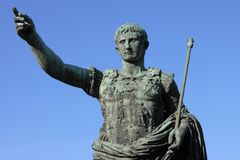Roman emperor Augustus. Symbol of power Stock Image