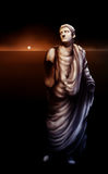 Roman Emperor Caligula Statue Artwork. Surreal artwork depicting a broken statue of Roman Emperor Caligula Stock Image