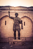 Roman emperor. The Colossus of Barletta, a large bronze statue of an Eastern Roman Emperor Stock Images