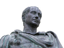 Roman emperor Julius Caesar. An isolated view from the bottom of a roman emperor Julius Caesar statue Stock Photography