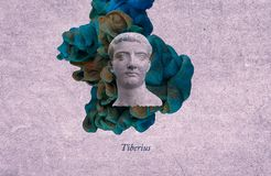 Roman emperor Tiberius royalty free illustration