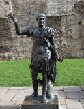 Roman Emperor Trajan. Statue of the Roman Emperor Trajan, London Stock Photography