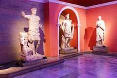 Roman emperors Trajan and Hadrian. Statue from Perge  in  Turkey Stock Photos