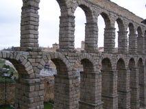 The Roman aqueduct in Segovia Spain. Roman empire aqueduct in Segovia Spain, 1st century AD, one thousand year old masterpiece of ancient roman empire stock photos