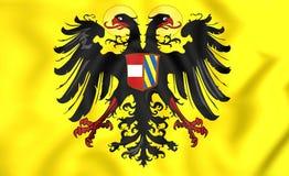 Roman Empire Flag santamente 1493-1556 ilustração royalty free