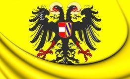 Roman Empire Flag santamente 1493-1556 ilustração stock