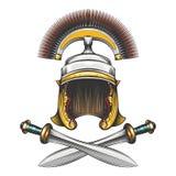 Roman Empire Helmet avec des épées illustration libre de droits