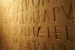 Roman Empire inscription (2) stock images