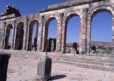 Roman empire. Romans historical museum, mosaic, architecture royalty free stock image