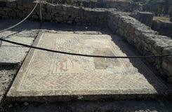 Roman empire. Romans historical museum, mosaic, architecture royalty free stock photos