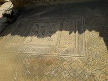 Roman empire. Romans historical museum, mosaic, architecture royalty free stock photo