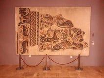 Roman empire. Romans historical museum, mosaic, architecture stock photography