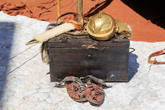 Roman empire Soldier equipment Stock Images