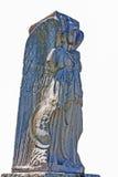 Roman empire statue Minerva - Vittoria Alata -  isolated in whit Royalty Free Stock Photo