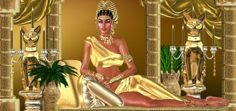 The Roman Empress. For a moment within a dream's dream Cleopatra believed she was the Empress of Rome and it was indeed that very notion that propelled the Roman Royalty Free Stock Image