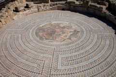 Roman erfenis in Kato Paphos Archaeological Park Royalty-vrije Stock Fotografie