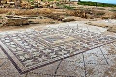 Roman erfenisplaats in Paphos, Cyprus. royalty-vrije stock foto's