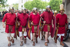 Roman event in Nimes, France Stock Images