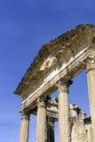 roman fördärvar tunisia royaltyfri bild