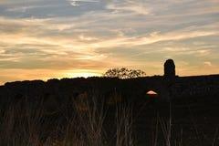 Roman fastställd monument för sol Arkivbild
