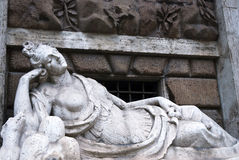 Roman female statue. A old roman female statue Royalty Free Stock Photo
