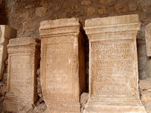 Roman finds. Ancient roman finds in Anagni cathedral, Italy Royalty Free Stock Image