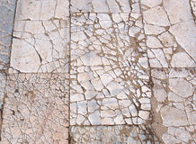 Roman floor. Ancient Roman floor made with marble tiles in the Roman Forum archaeological site in Rome, Italy royalty free stock images