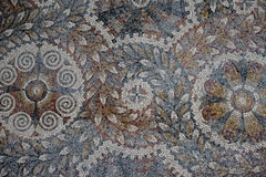 Roman floor mosaic texture Royalty Free Stock Photo