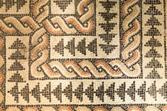 Roman floor mosaics. In the archaeological museum, Milan, Italy royalty free stock images