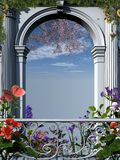 Roman flowery arch Stock Photos