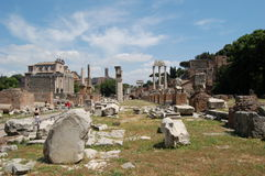 roman fora Arkivbild