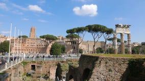 roman fora fördärvar italy rome arkivfilmer