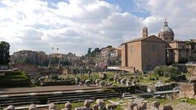 roman fora fördärvar zoom italy rome lager videofilmer