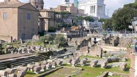 roman fora italy rome arkivfilmer