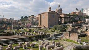 roman fora molnig dag italy rome arkivfilmer
