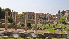 roman fora Video av Roman Forum i Rome, Italien Latin: Forum Romanum, italienare: Foro Romano arkivfilmer