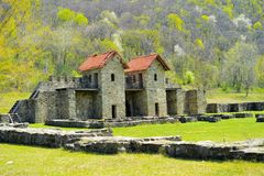 Roman fort or castra Royalty Free Stock Photo