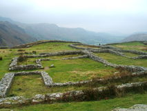 Roman fort at Hardknot Pass, UK. The roman fort at Hardknot Pass in Cumbria, UK, Close to the road but very difficult to spot unless on foot Royalty Free Stock Photography