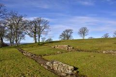 Roman Fort. Remains of the Roman Fort, Bar Hill, Kirkintilloch, Scotland Stock Photo