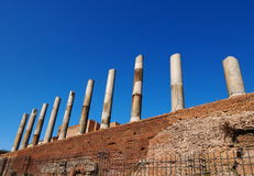The Roman Forum. Columns of the Roman Forum, Rome, Italy, photo was taken in February Royalty Free Stock Image