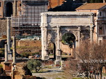 The Roman Forum. Photo was taken in Rome, Italy, february Stock Photo