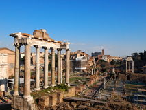 The Roman Forum. Ruins of the Roman Forum, Rome, Italy, photo was taken in February Royalty Free Stock Images