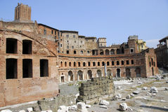 The Roman Forum. Exterior of ruins in daylight. Location: Rome Italy royalty free stock photos
