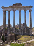 The Roman Forum. Is a rectangular forum surrounded by the ruins of several important ancient government buildings at the center of the city of Rome Royalty Free Stock Photography